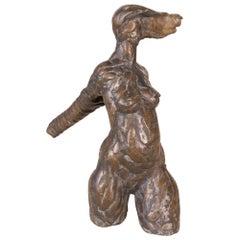 Giacometti Style Bronze Figurative Sculpture