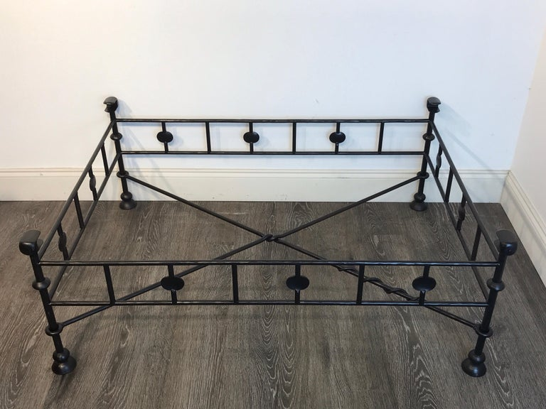Giacometti Style Oil Rubbed Bronze Wrought Iron Coffee Table Base