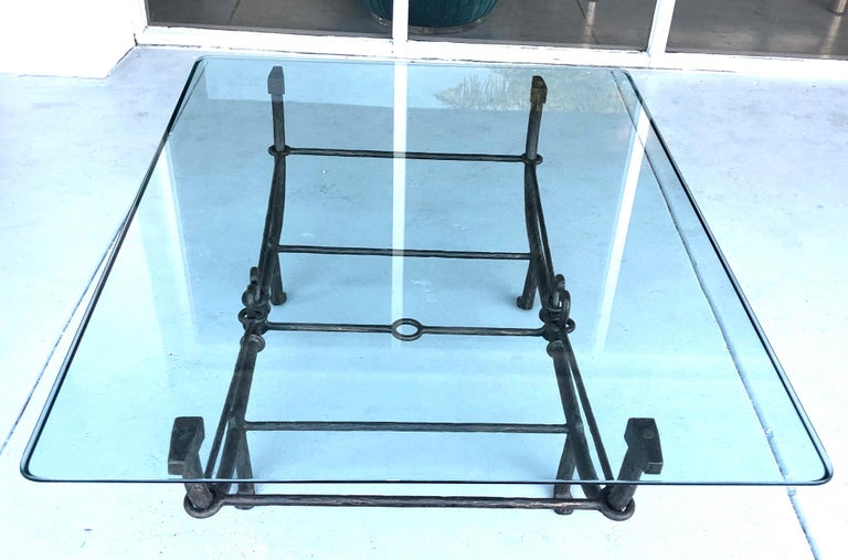 Italian Giacometti Style Sculpture Coffee Table For Sale