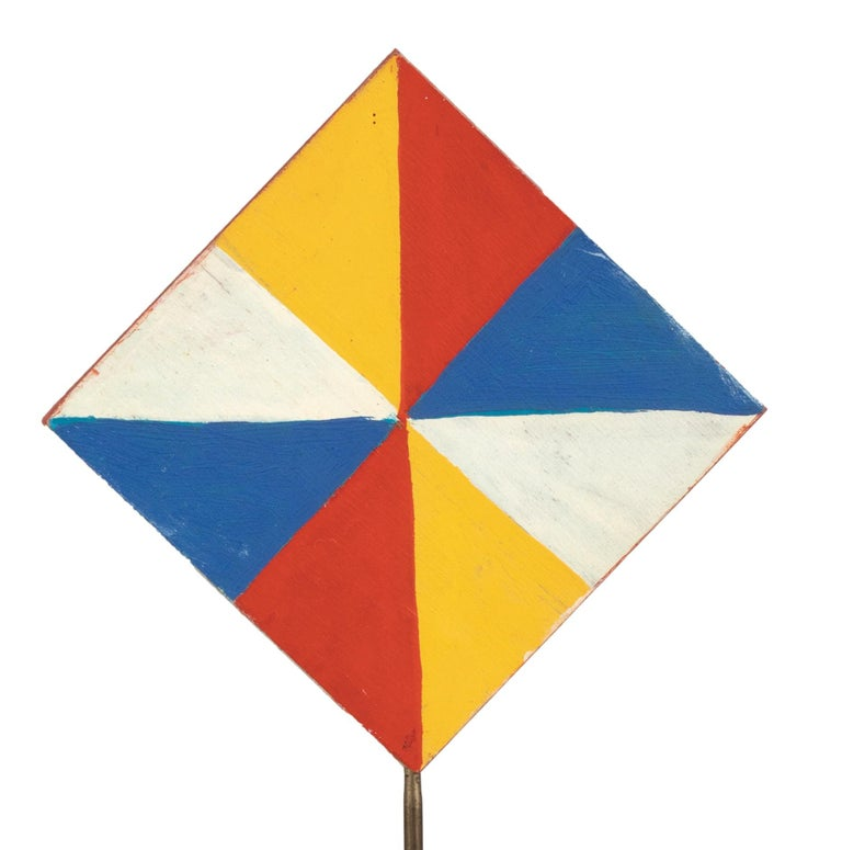 Colorful Triangles - Temperas on Wood by Giacomo Balla - 1930s For Sale 4