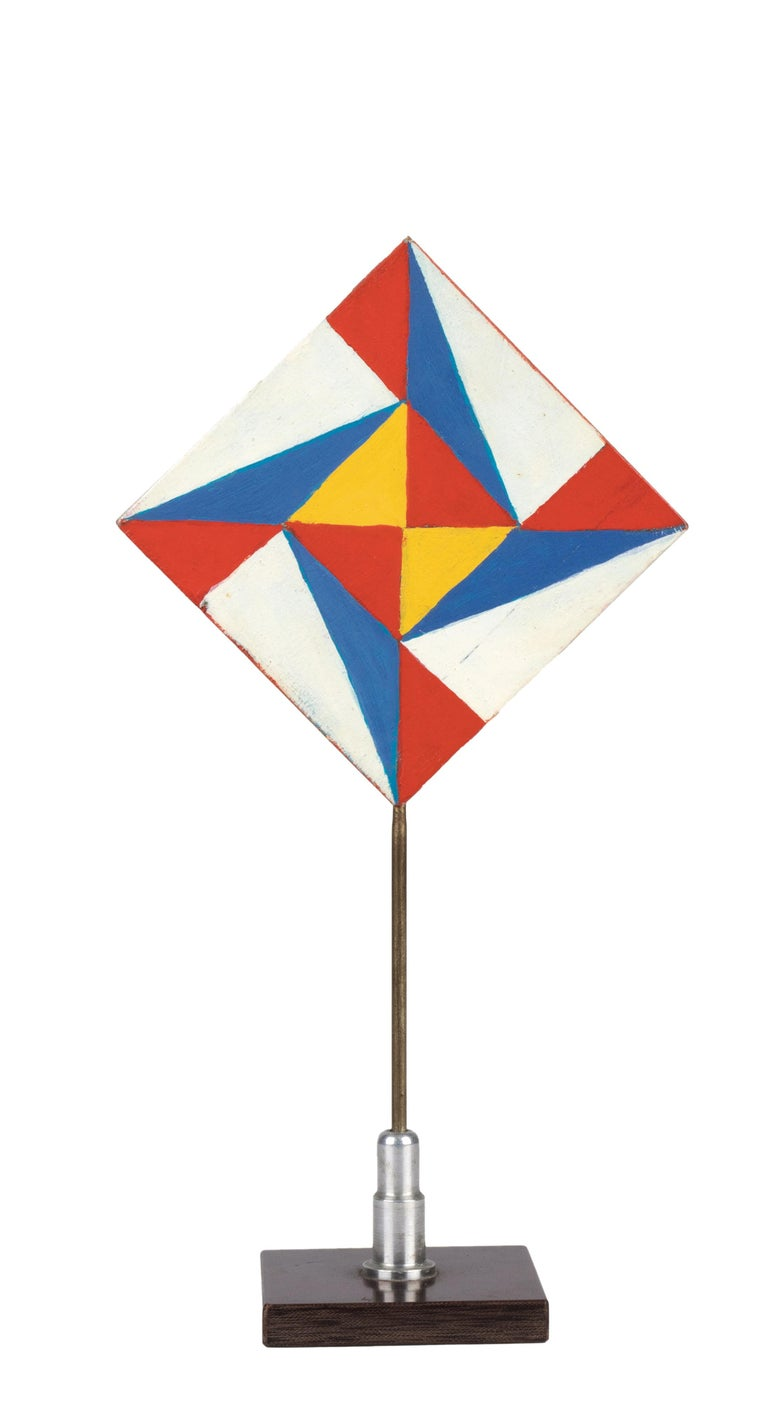 Colorful Triangles - Temperas on Wood by Giacomo Balla - 1930s For Sale 5