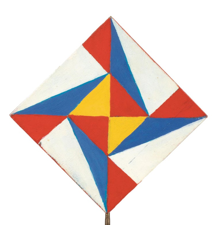 Colorful Triangles - Temperas on Wood by Giacomo Balla - 1930s For Sale 6