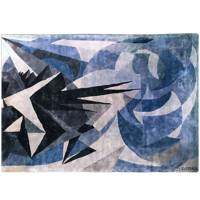 "Giacomo Balla ""Pessimismo Ottimismo"" Silk Carpet, Italy, 1923 For Sale"