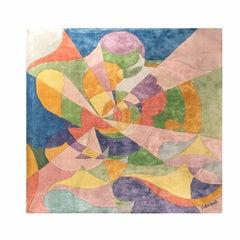 """Giacomo Balla """"Ricerca Luce Ideale"""" Silk Carpet, Italy, 1929"""