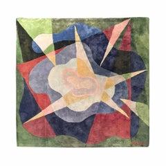"""Giacomo Balla """"Specchio d'acqua"""" Silk Carpet, Italy, 1929"""