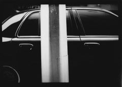 Untitled #13 (Car and Pole) from New York - Black and White, Street Photography