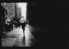 Untitled #17 (Man Running) from New York - Black and White Photography, Portrait