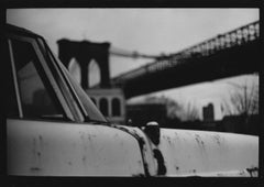 Untitled #22 (Car Brooklyn Bridge) from New York - Black and White Photography