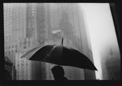 Untitled #27 (Man Umbrella) from New York - Black and White Photograph, Portrait