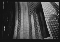 Untitled #29 (American Flag) from New York - Black and White, Street Photography