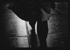 Untitled #3 (Man's Raincoat) from New York - Black and White, Street Photography