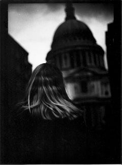 Untitled #4 (Woman St. Paul's) from Eternal London - Black and White Photography