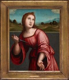 Lucretia, by Giacomo Rabolini Francia. Detto il Francia. Oil on panel, framed