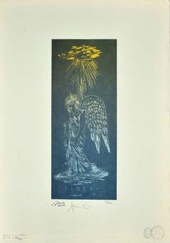 An Angel Found - Original Lithograph by Giacomo Manzù - 1933