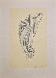 Drape - Vintage Offset Print by Giacomo Manzù - 1970