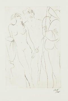 Oedipus - Original Etching by Giacomo Manzù - 1968