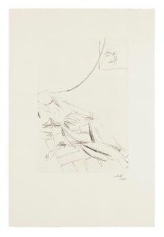 Scene from King Oedipus  - Original Etching by Giacomo Manzù - 1968