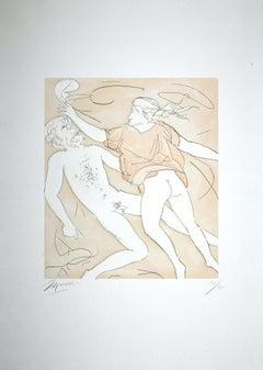 The Dance of Orpheus - Original Etching by Giacomo Manzù - 1978