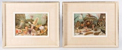 A Pair Of Chromolithographs Entitled Actiniaria 1893