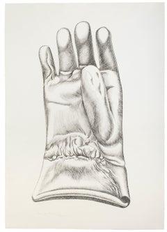 Black and White Glove - Original Etching by Giacomo Porzano - 1972