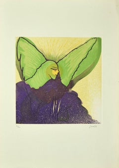 Price - The Angel - Original Etching by Guelfo Bianchini - 1970s