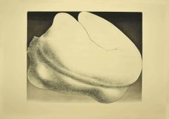 Price - Woman from Shouldes - Original Etching by Giacomo Porzano - 1970s