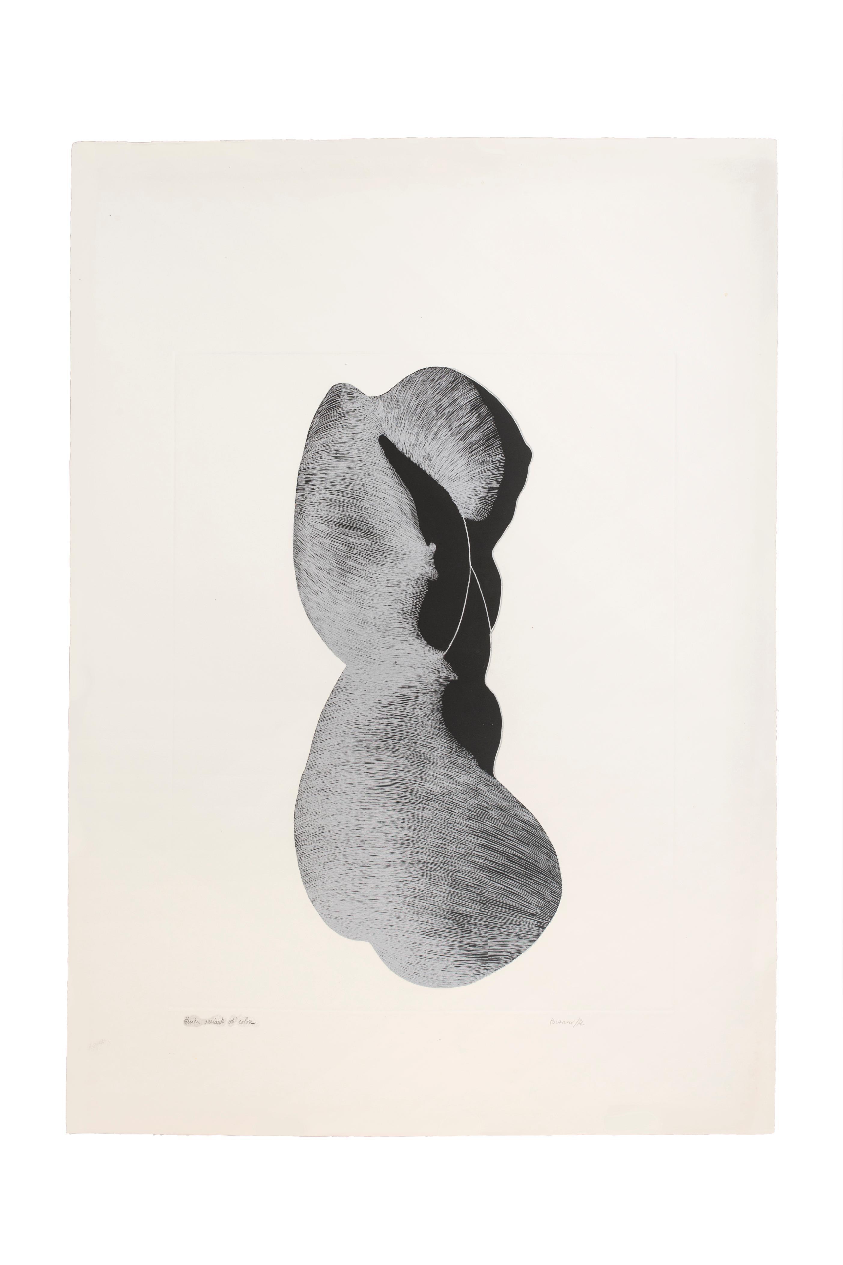 Silhouette III - Original Etching by Giacomo Porzano - 1972