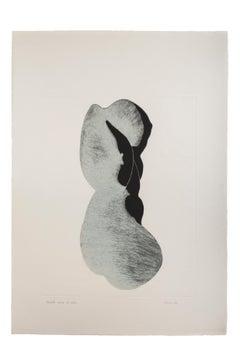Silhouette IV - Original Etching by Giacomo Porzano - 1972