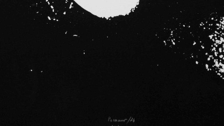 Smoker in Black - Original Etching by Giacomo Porzano - 1972 For Sale 2