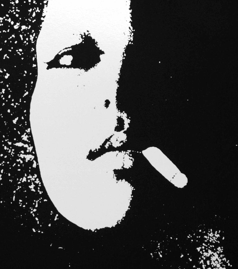 Smoker in Black - Original Etching by Giacomo Porzano - 1972 For Sale 3