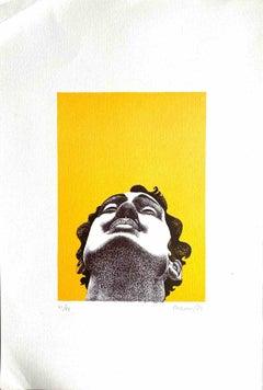 The Portrait - Original Lithograph by  Giacomo Porzano - 1970s