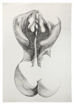 Woman from Shoulder - Original Etching by Giacomo Porzano - 1970s