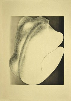 Woman from Shoulders - Original Etching on Paper by Giacomo Porzano - 1970s