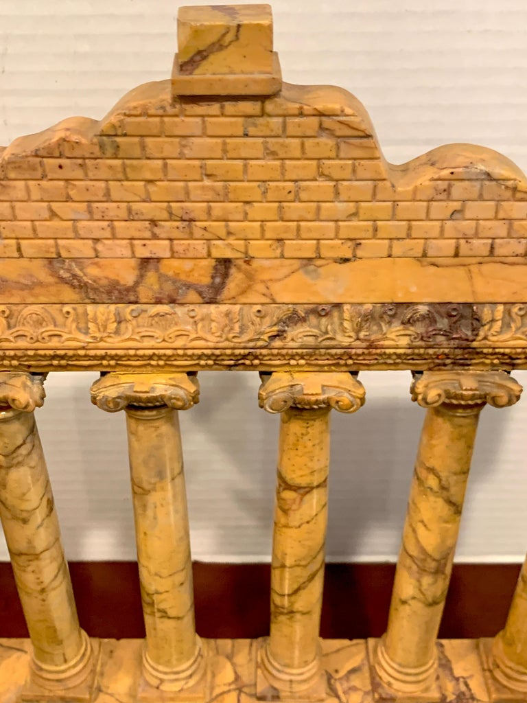 Giallo Antico Grand Tour Marble Model of the Temple of Saturn For Sale 5