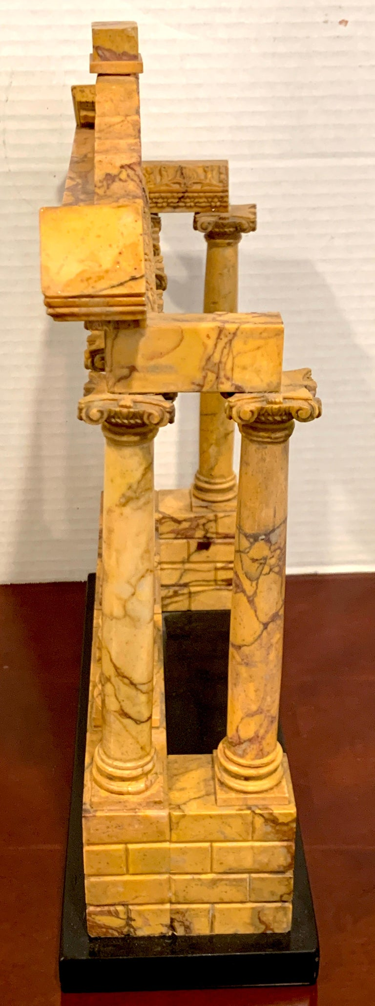 Giallo Antico Grand Tour Marble Model of the Temple of Saturn For Sale 6