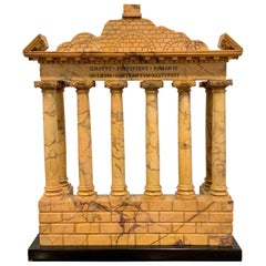 Giallo Antico Grand Tour Marble Model of the Temple of Saturn