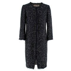 Giambattista Valli Black Boucle Tweed Jacket - Size US 8