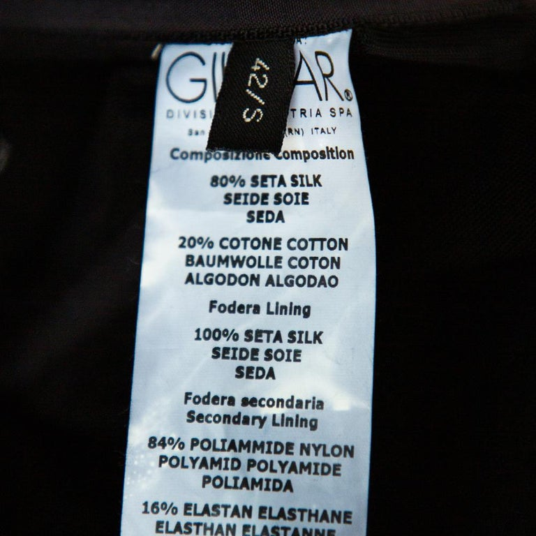 Giambattista Valli Black Silk Draped Bustier Detail Faux Wrap Gown S For Sale 3