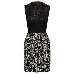 Giambattista Valli Black & White Sleeveless Dress