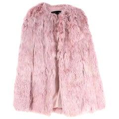 Giambattista Valli Blush Pink Alpaca Fur Cape US4