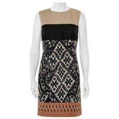 Giambattista Valli Color Block Woven Jacquard Sleeveless Dress XS
