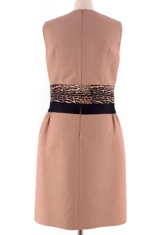 Brown Giambattista Valli contrast-waist wool-blend dress IT 42 For Sale