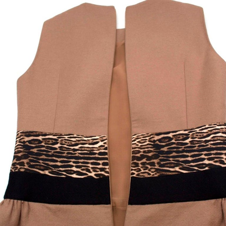 Giambattista Valli contrast-waist wool-blend dress IT 42 In Good Condition For Sale In London, GB