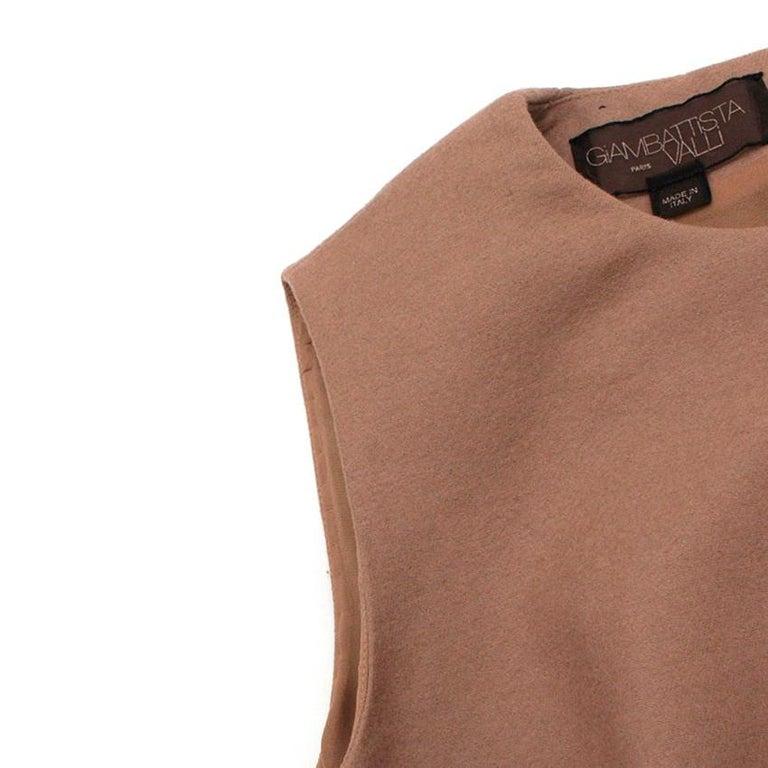 Giambattista Valli contrast-waist wool-blend dress IT 42 For Sale 2