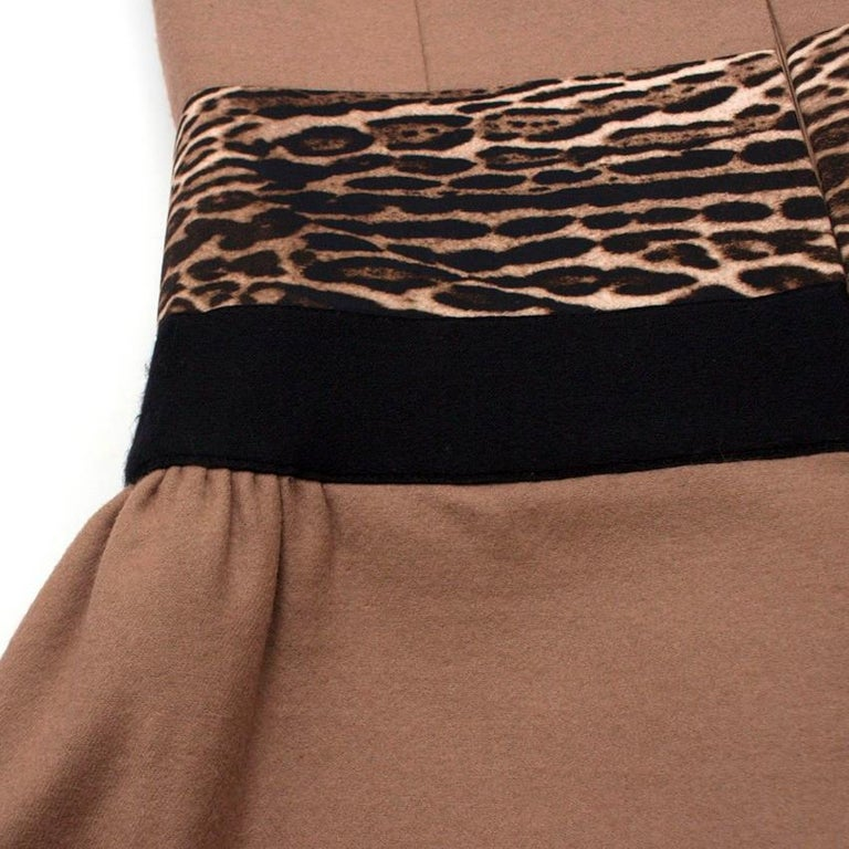 Giambattista Valli contrast-waist wool-blend dress IT 42 For Sale 4