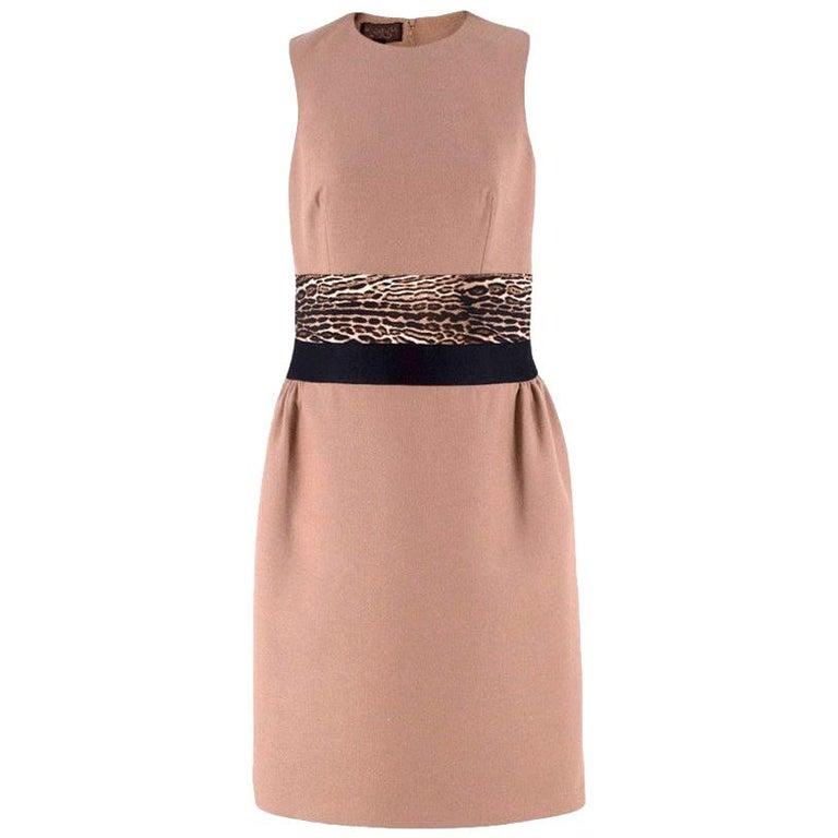 Giambattista Valli contrast-waist wool-blend dress IT 42 For Sale