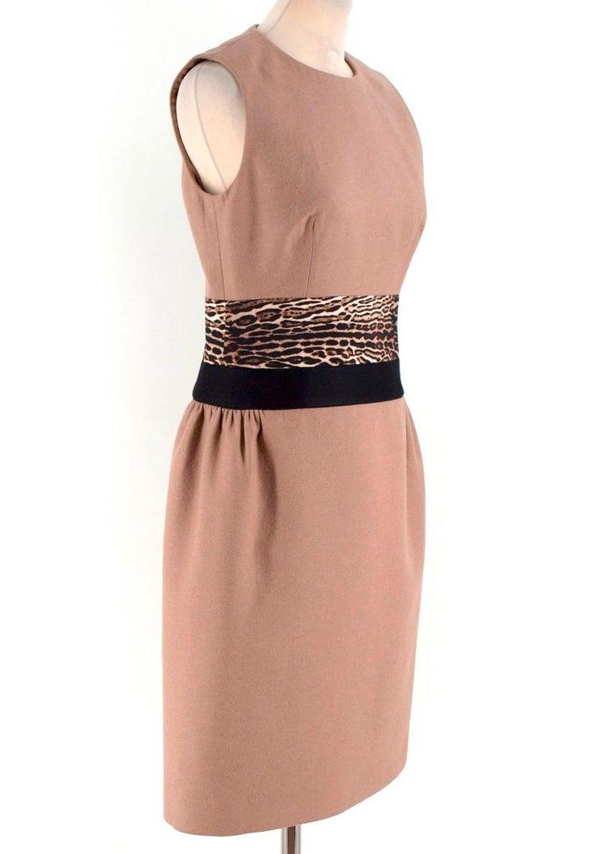 cc2b43227d343c Giambattista Valli contrast-waist wool-blend dress US 6 For Sale at ...