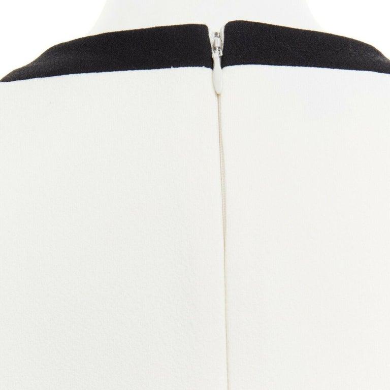 GIAMBATTISTA VALLI cream crepe floral lace window detail puff sleeve dress IT42 For Sale 4