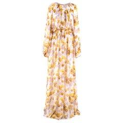 Giambattista Valli Jaune Floral Silk Gown IT 44