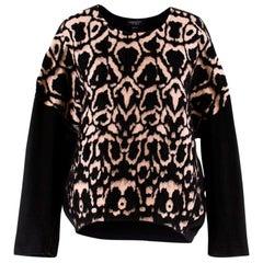 Giambattista Valli Leopard Printed Wool-Blend Jumper - Size Estimated M
